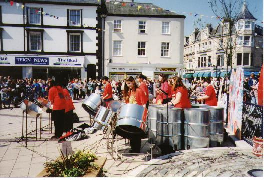 The band playing at Teignmouth festival