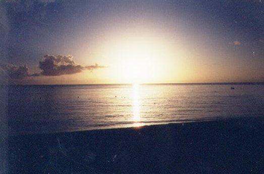 The Bajan sunset