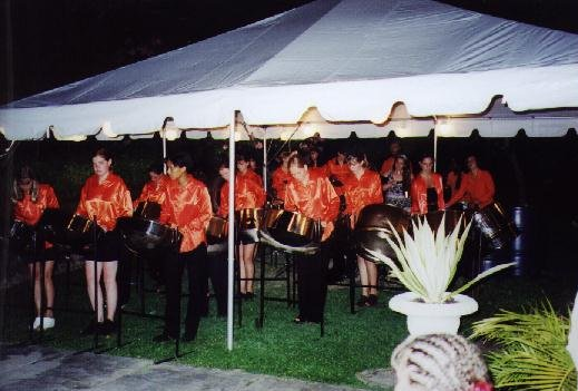 As in 1995 we were invited to play at the High Commissioner's house