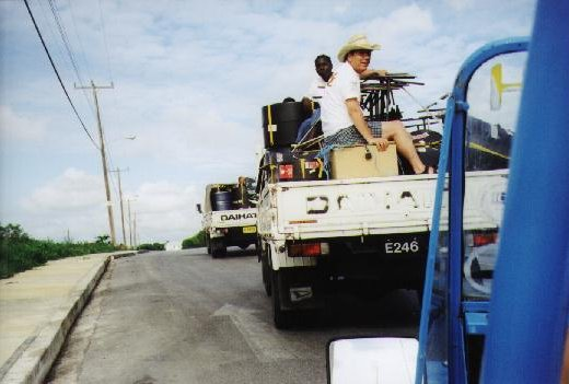 Our kit needed two lorries and didn't leave much room for passengers