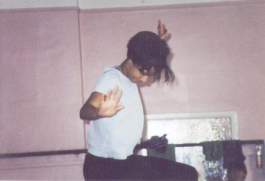 Rachel Duchnowski practising her carnival dance moves.