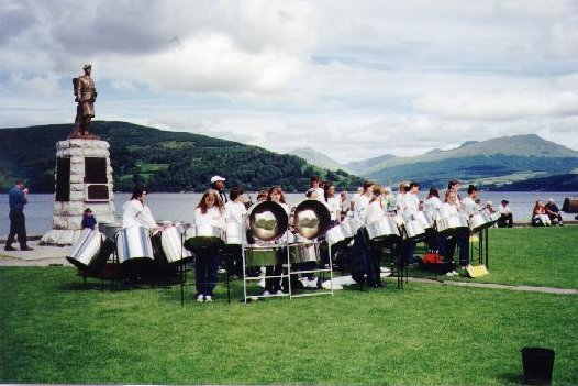 We played by Loch Fyne in Inveraray