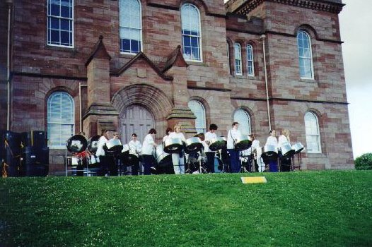 We played after the eight-o-clock piper at Inverness castle.