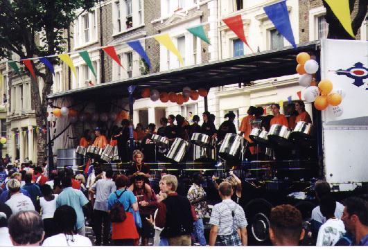 The band passing through Ladbroke Grove