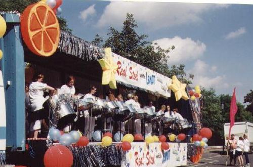 A well decorated float!
