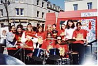 Some of the band in Teignmouth