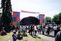 The Kiss FM stage in Horniman's Pleasance behind where Panorama was staged the previous night