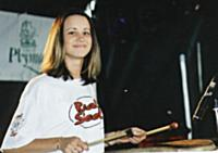 Another drummer, Leanne Bailey