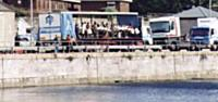 On the Sunday before Carnival a dress rehersal was held in Plymouth on the Dockside to check that we would all fit on our especially widened lorry.