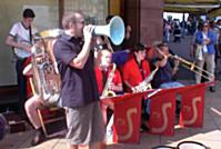 Among the many acts in Edinburgh were this great band, 'Mr. Swings', from York