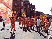 A costume band in the carnival